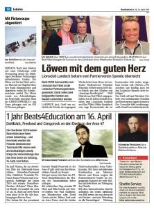 Bericht aus dem Bezirksblatt in Landeck, Österreich
